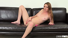 With a pink dildo invading every corner of her pussy, Marie enjoys pure pleasure