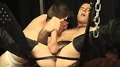 Horny young lad gets his ass stuffed by his extremely kinky master