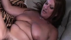 Busty mature slut Anastasia Sands enjoys taking a cock all the way
